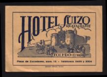 Rare Hotel label luggage labels old Spain       #299